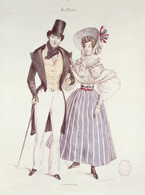 Fashion for Men and Women, 1830 by French School