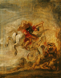 Bellerophon Riding Pegasus Fighting the Chimaera von Peter Paul Rubens