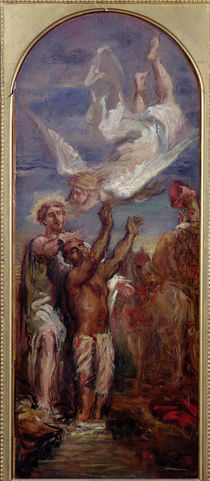 Study for St. Philip Baptising the Eunuch of the Queen of Ethiopia by Theodore Chasseriau