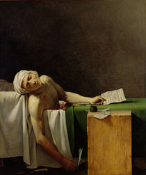 The Death of Marat, after the original by Jacques-Louis David von Jerome Martin Langlois