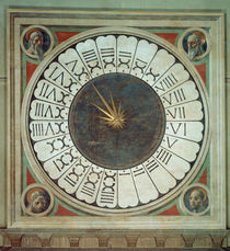 Canonical clock with the heads of four prophets von Paolo Uccello