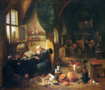An Alchemist in his Workshop by David the Younger Teniers
