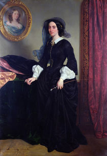 Portrait of Marie Deveria, 1856 by Eugene Deveria