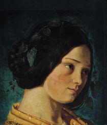 Portrait of Zelie Courbet, c.1842 by Gustave Courbet