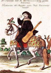 Scaramouche on Horseback von German School