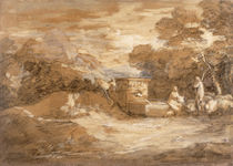 Mountain Landscape with Figures von Thomas Gainsborough