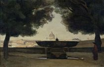 The Fountain of the French Academy in Rome by Jean Baptiste Camille Corot