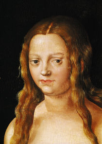 Adam and Eve, detail of Eve's head by Lucas, the Elder Cranach