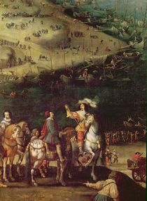 The Lifting of the Siege of the Ile de Re von French School