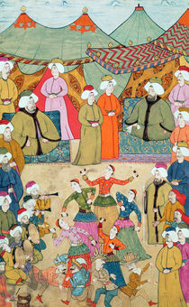 A Dance for the Pleasure of Sultan Ahmet III from the 'Surnama' by Ottoman School