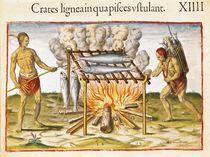 Cooking Fish, from 'Admiranda Narratio...' by John White