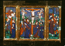 Triptych depicting the Crucifixion von Nardon Penicaud