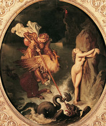 Ruggiero Rescuing Angelica von Jean Auguste Dominique Ingres