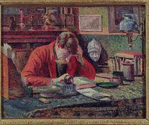 Emile Verhaeren in his Study von Maximilien Luce