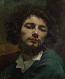 Self Portrait or, The Man with a Pipe by Gustave Courbet