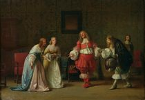 Mascarille Presenting Jodelet to Cathos and Madelon von Jean Hegesippe Vetter