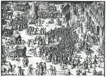 The Guilbray Fair and the Cattle Market by French School