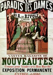 Poster advertising 'Au Paradis des Dames' von Jean Alexis Rouchon
