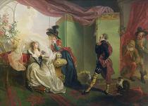 Malvolio before Olivia, from 'Twelfth Night' by William Shakespeare 1789 von Johann Heinrich Ramberg