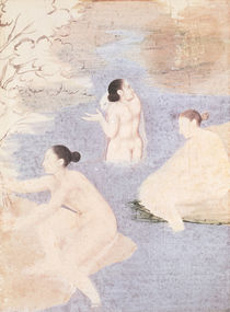 Three Bathers by Indian School