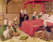 The Birth of the Virgin von Master of the Life of Virgin Mary