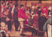 The Wedding Supper, detail from the left hand side by Pieter III Brueghel