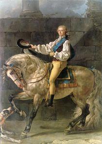 Equestrian Portrait of Stanislas Kostka Potocki 1781 by Jacques Louis David