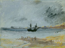 Ship Aground, Brighton, 1830 by Joseph Mallord William Turner