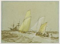 Shipping, c.1828-30 by Joseph Mallord William Turner