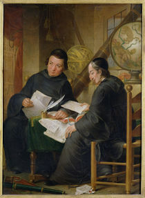 P.P. Leseur and Francois Jacquier in Rome von Louis Gabriel Blanchet