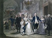 Louis XVI Bidding Farewell to his Family von French School