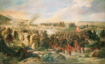 The Battle of Tetouan in 1860 by Vincente Gonzalez Palmaroli