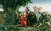 The First Landing of Christopher Columbus in America von Dioscoro Teofilo Puebla Tolin