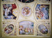 Ceiling painting depicting the Story of Perseus and Danae by Gaspar Becerra