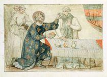 Ms 1779 fol.81 St. Louis feeding a miserly monk by Nicolas Claude Fabri de Peiresc