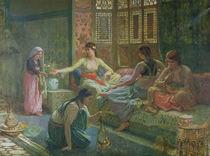 Interior of a Harem, c.1865 von Leon-Auguste-Adolphe Belly