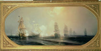 Naval Battle in Chesapeake Bay von Jean Antoine Theodore Gudin