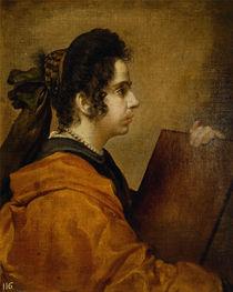 Portrait presumed to be Juana Pacheco as a Sibyl von Diego Rodriguez de Silva y Velazquez