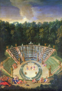 View of the Salle de Bal with a Performance of 'Rinaldo and Armida' von Jean the Younger Cotelle