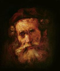 A Rabbi by Rembrandt Harmenszoon van Rijn