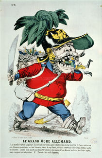 The Giant German Ogre, caricature of Otto von Bismarck von French School