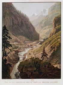 View of the New Simplon Pass by Mathias Gabriel Lory
