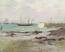 The Entrance to the Port of Boulogne by Berthe Morisot