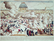 Attack on the Tuileries, 10th August 1792 by French School