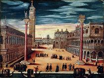 The Piazzetta di San Marco by Italian School