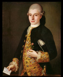 Portrait of a Gentleman with a Rose Buttonhole by Pietro Longhi