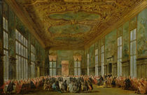 Doge Alvise Mocenigo IV Giving a Banquet for the Ambassadors by Francesco Guardi
