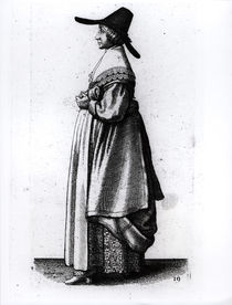 Merchant's Wife, 1640 by Wenceslaus Hollar