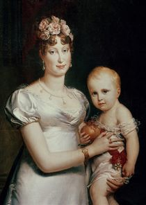 Marie-Louise of Habsbourg-Lorraine and the King of Rome von Francois Pascal Simon, Baron Gerard