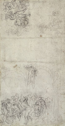 Study for The Last Judgment by Michelangelo Buonarroti